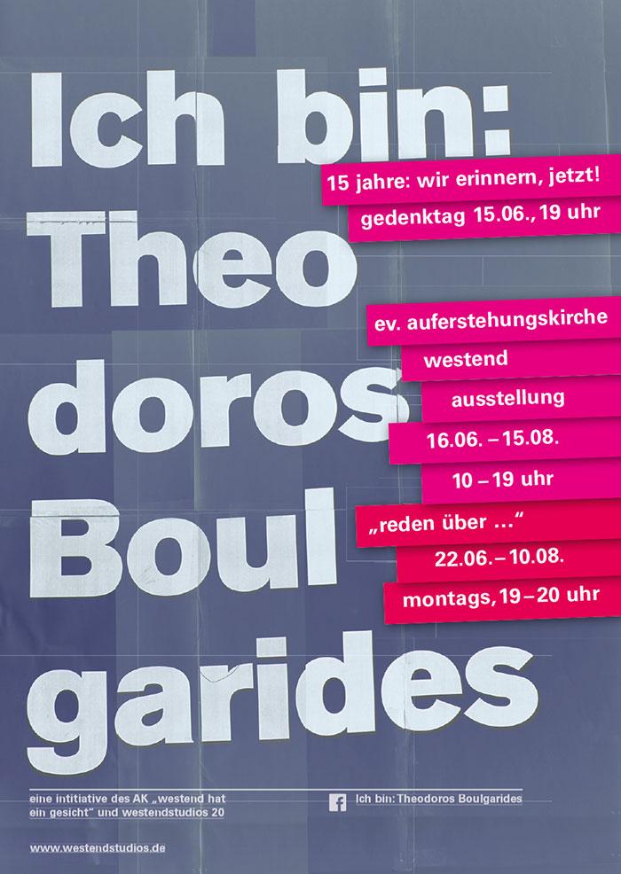 Gedenktag Theodoros Boulgarides / Installation:  Ich bin: Theodoros Boulgarides
