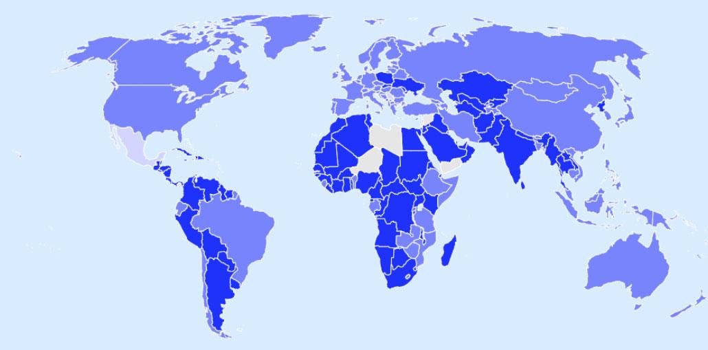 Παγκόσμιος ταξιδιωτικός διαδραστικός χάρτης