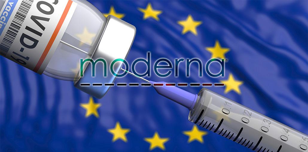διανομή των εμβολίων της Moderna στην Ευρώπη