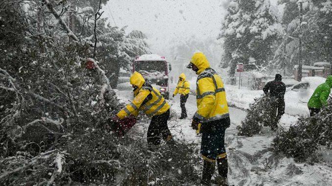 χάος του χιονιά στην Αττική