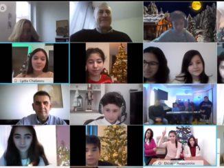 Ελληνόπουλα από το εξωτερικό είπαν τα κάλαντα στην Υπουργό Παιδείας